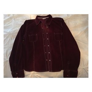 Tops - Burgundy Snap Shirt