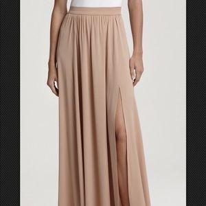 Rachel Zoe Vanessa Nude maxi skirt size 0