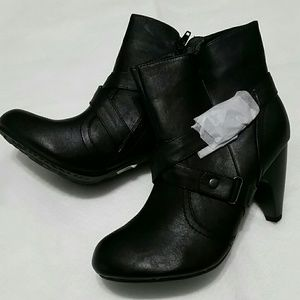 Lane Bryant Black Ankle Boots With Straps size 9W