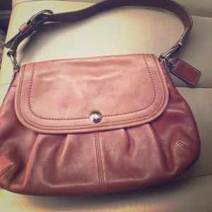 All leather vintage coach satchel