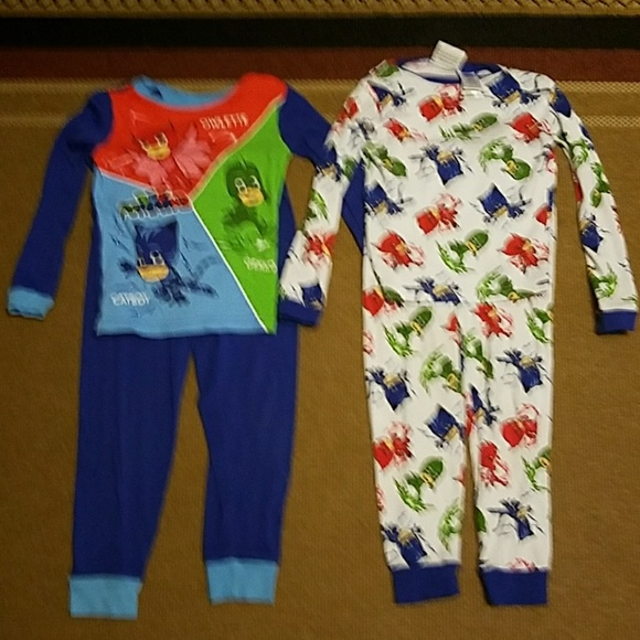 Superb Set Of 2 Boys Size 6 PJ Masks Pajamas