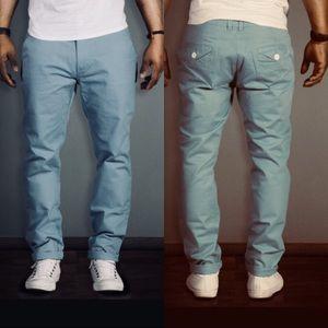 "Bellfield blue casual men's pants 36 x 32"""