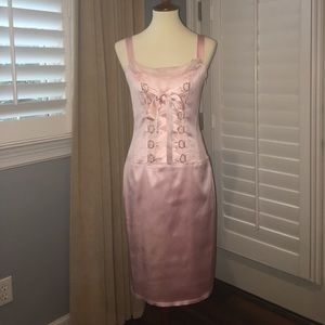 Beautiful Light Pink Cocktail Dress-Allen Schwartz