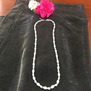 Jewelry - Silver CZ/diamond like necklace