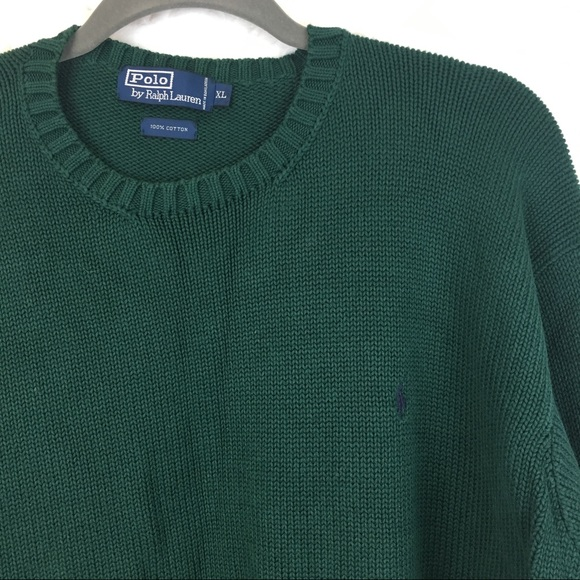24d166caa Vintage Polo Forest Green Logo Thick Knit Sweater.  M 59fb37703c6f9f33fe0207b6
