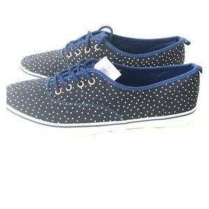 GAP Blue & Whitr Polka Dot Sneakers NWT