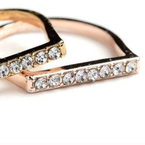 ❗️1 LEFT Chic Rose Gold Ring Sz 7