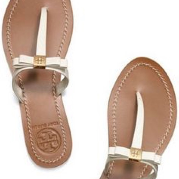 Tory Burch Leather Bow Sandals cheap sale supply free shipping many kinds of newest sale online cheap sale the cheapest Rr10TJy