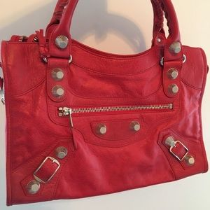 Balenciaga Red / Coq City, Giant Silver HW