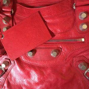 Balenciaga Bags - Balenciaga Red / Coq City, Giant Silver HW