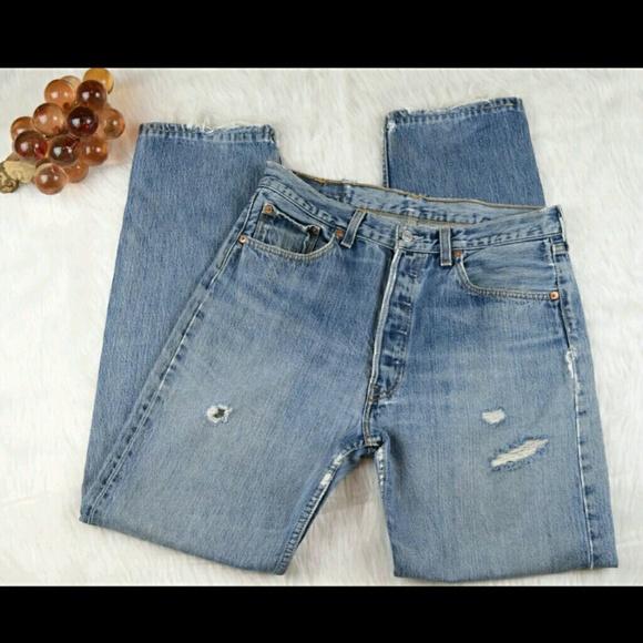 a2aa5d3d783 Levi s Denim - Vintage Levis 501xx For women Distressed Jeans