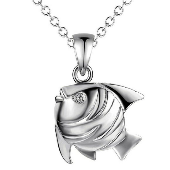 Jewelry 925 sterling silver fish pendant necklace poshmark 925 sterling silver fish pendant necklace aloadofball Image collections