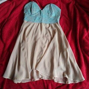 Strapless event dress
