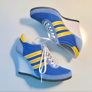 💙💛 Adidas Jeremy Scott Sneaker Wedges 💛💙