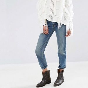 Free People Jasper Cropped Straight Jeans