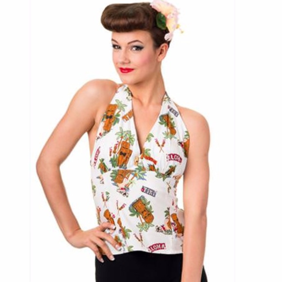 58d6b9d027808 NEW Banned Tiki Dreamer Halter Pinup Rockabilly. Boutique. Banned Apparel