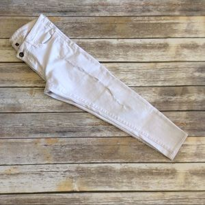 Kut from the Kloth Off White Distressed Jeans