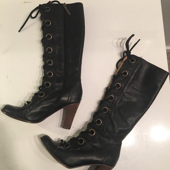Seychelles Black Lace Up Boots   Poshmark