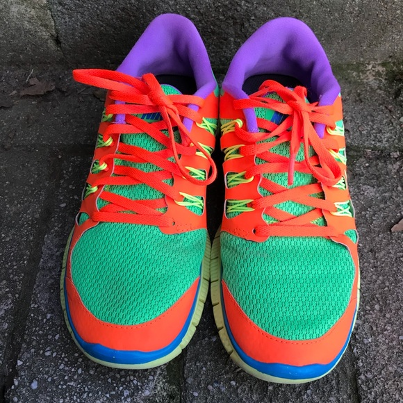 Nike Free Run ID 5.0 Rainbow Sneakers Sz 7 EUC Nike Custom