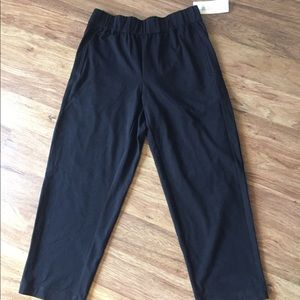 NWT Eileen Fisher black ankle pants