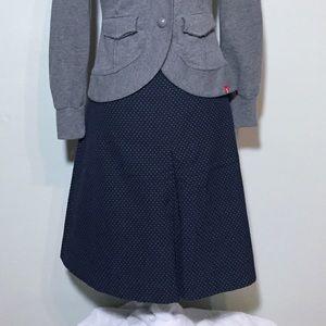 Pendleton Navy with White Polka Dot A-Line Skirt 6