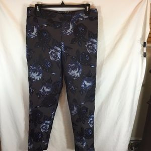 Talbots Womens sz 6 Black Lined Pants with Blue