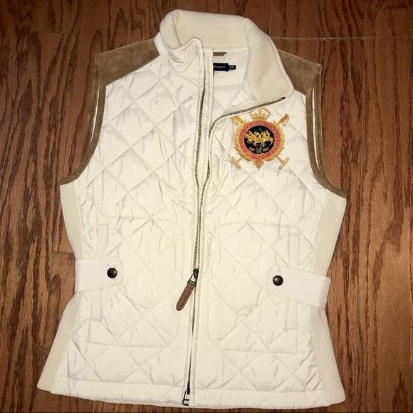 Offwhite Quilted Lauren CoatsNwt Vest Ralph Sport Jacketsamp; OilwXkTPuZ