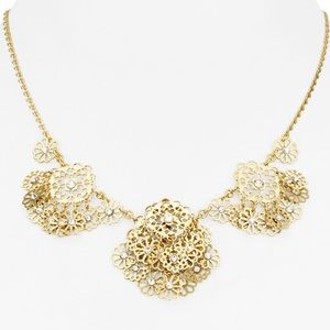 "NWT Kate Spade Floral ""Golden Age"" Collar Necklace"