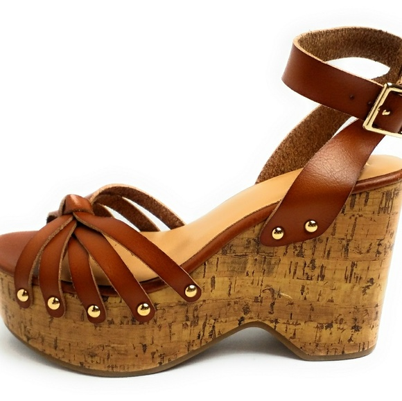 5d8f99e857 Mossimo Supply Co. Shoes | Erie Wood Flatform Wedge Sandals Mossimo ...