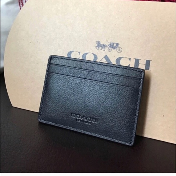 946f4297 Coach men's card wallet with gift box NWT