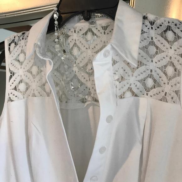 Sandra darren white lace dress