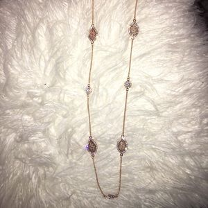 Jewelry - Long rose gold necklace