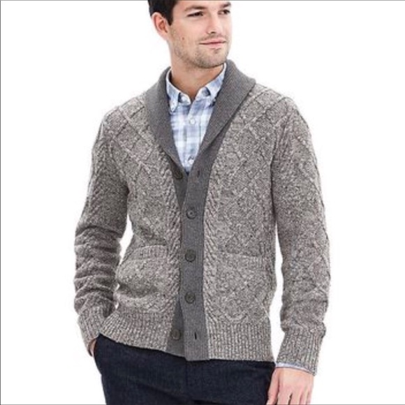 98a98ee109 Banana Republic Other - BANANA REPUBLIC Mens Gray Cardigan Sweater XL