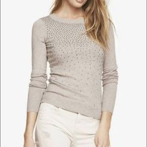 Express Rhinestone Sparkly Sweater