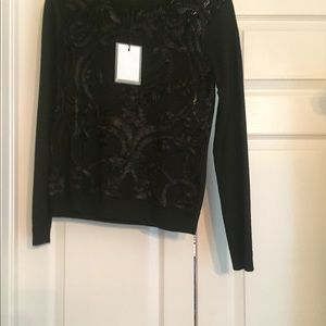 Black Lace Sweater NWT