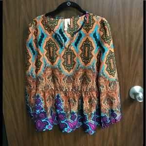 Patterned blouse by Pink Owl