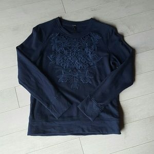 J.Crew Embroidered Sweatshirt
