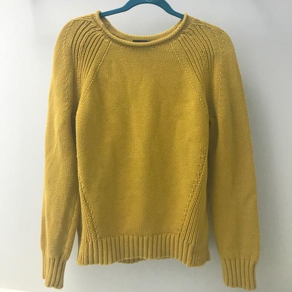 Jcrew 1988 Roll Neck Sweater In Pale Saffron