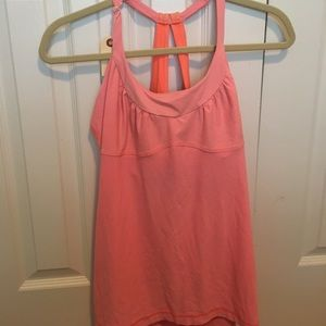 Lululemon orange  tank sz 12 55415