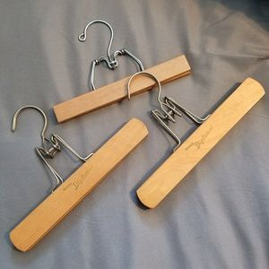 Other - 3 Antique wooden pant hangers