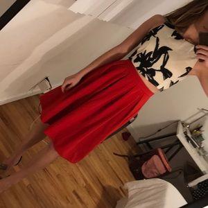 Lulu's Red Midi Skirt