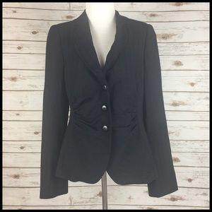 Armani Collezioni 10 / 46 Black Pinstripe Blazer