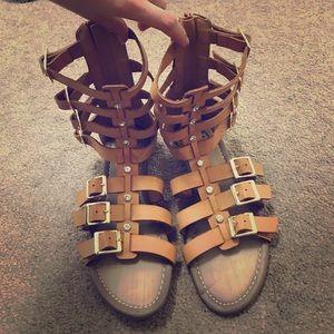 Gladiator Tan Sandals Size 6
