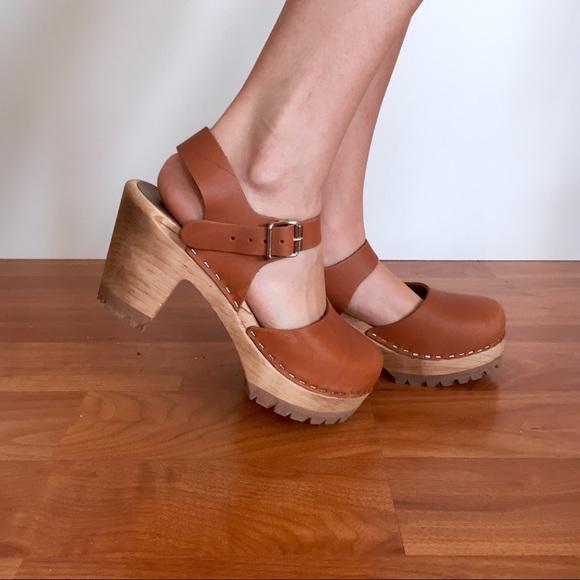 e585355dae5 Mia Shoes - NWOB MIA Abba Swedish Clogs- Luggage Cognac Color