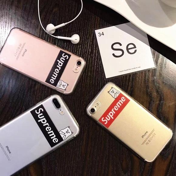 buy online c2441 e71d2 Supreme x RIPNDIP iPhone X soft jelly phone case NWT