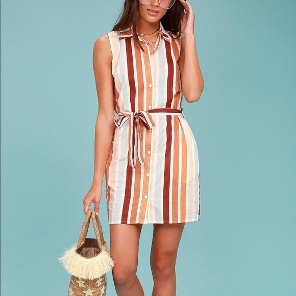 4e2467ec323 Lulu s Dresses   Skirts - Rhythm Burnt Orange Stripe dress