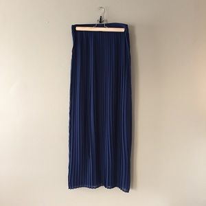 Pleated maxi skirt XS navy