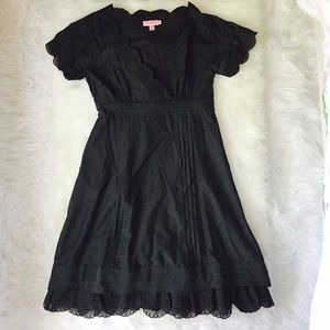 TED BAKER Dress with Belt and Embroidery Sz 2