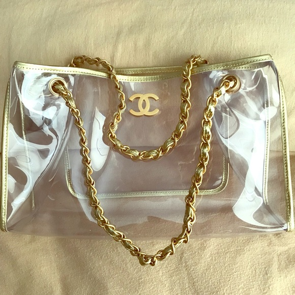 """ec0df6a6bbe2 CHANEL Handbags - Clear Chanel tote """" naked bag """""""