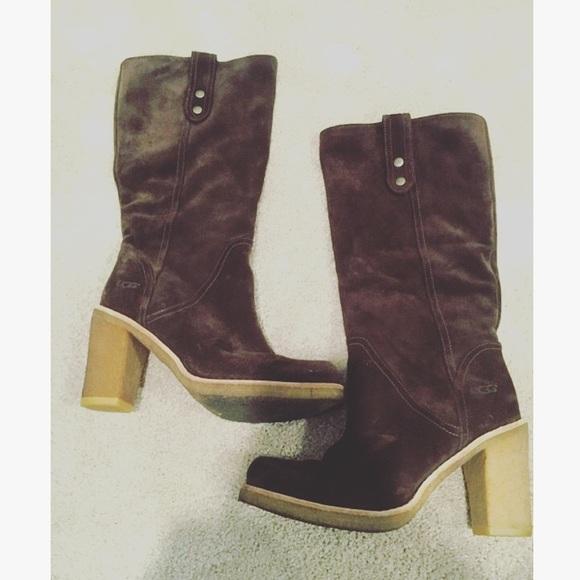 Brown UGG boot heels